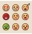 style kawaii emoticons with vector image vector image