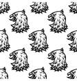 Stylized black eagle seamless pattern vector image vector image