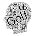 The History Of Golf In America Part One text vector image vector image