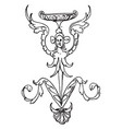 thin grotesque column is a squatting winged vector image vector image