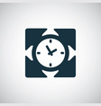 time arrows icon for web and ui on white vector image vector image
