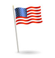 united states america flag on a white vector image