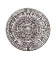 vintage mayan calendar traditional native aztec vector image