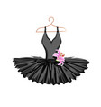 watercolor ballet tutu on a hanger vector image