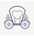 Wedding Outline carriage icon set Elegant vector image