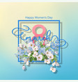 women day greeting card vector image vector image