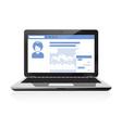 your social public profile - social network page vector image vector image
