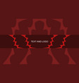 youtube channel banner red abstract template vector image vector image