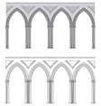 Gothic arch and column vector image
