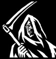 phantom reaper head in the hood isolated flat vector image