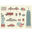 Country USA travel vacation guide of goods places vector image
