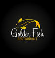 golden fish logo sea food logo bar restaurant vector image