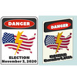 3d fictional sign with words danger november 3 vector image vector image