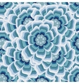Abstract blue Floral Greeting card background vector image