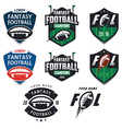american football fantasy league design elements vector image vector image