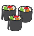 an angry cartoon sushi or color vector image vector image