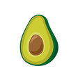 Avocado simple cartoon Isolated on a white vector image vector image