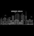 berlin city silhouette skyline germany - berlin vector image