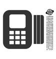 card processor icon with work bonus vector image vector image
