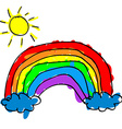 Child rainbow vector image vector image