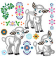 collection of cartoon little sheep vector image