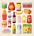 Colorful product icons vector image