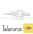 Coloring page for kids with Talarurus vector image vector image