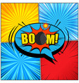 comic book page composition vector image vector image