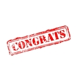 Congrats rubber stamp vector image vector image