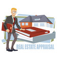 construction industry real estate appraisal vector image vector image