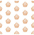 cupcakes seamless pattern with baked goods vector image vector image