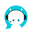 cute smiling funny robot chat bot vector image vector image