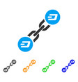 dash blockchain icon vector image vector image