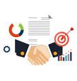 deal shaking hands vector image vector image