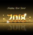 decorative happy new year background with gold vector image vector image