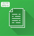 document paper icon in flat style terms sheet vector image vector image