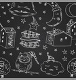 doodle seamless pattern with images about good vector image vector image