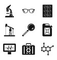 extraction of energy icons set simple style vector image vector image