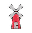 farm windmill isolated icon vector image vector image