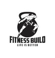 fitness build vector image