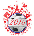 france symbol with flag and soccer ball vector image