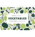 fun hand drawn vegetables design template food vector image