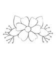 garden flowers decorative icon vector image vector image