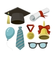 Graduation elements set vector image vector image