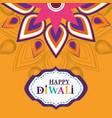 happy diwali festival flower ornament decoration vector image vector image