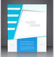 layout business brochures or poster vector image vector image