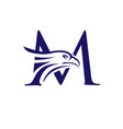 letter m and eagle head vector image vector image