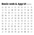 most popular basic web and app ui icon set