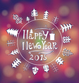 new year 2015 greeting card in minimalistic style vector image