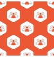 Orange hexagon group leader pattern vector image vector image